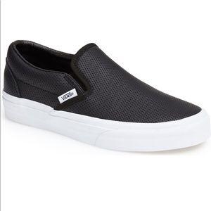 Vans Black leather Classic sneaker